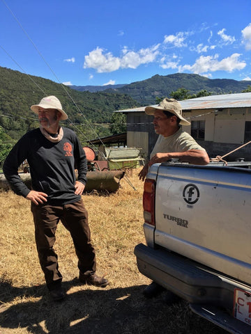 Don and one of his coffee farmer friends in Costa Rica.