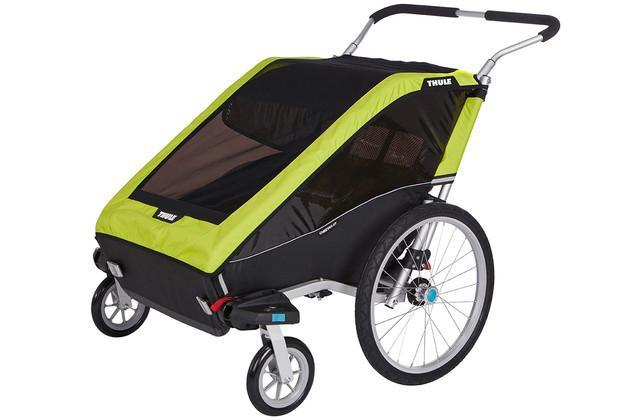 Thule Chariot Cheetah XT 2 + Cycle/Stroll - Chartreuse