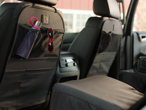 Weathertech Seat Back Protector - Kick Mat and Back Seat Organizer - Black