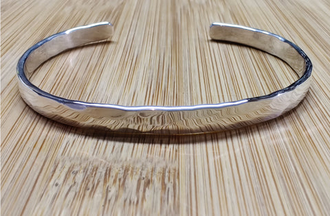 Classic Bracelet in 6 Gauge Sterling silver with 14K Gold Rivet