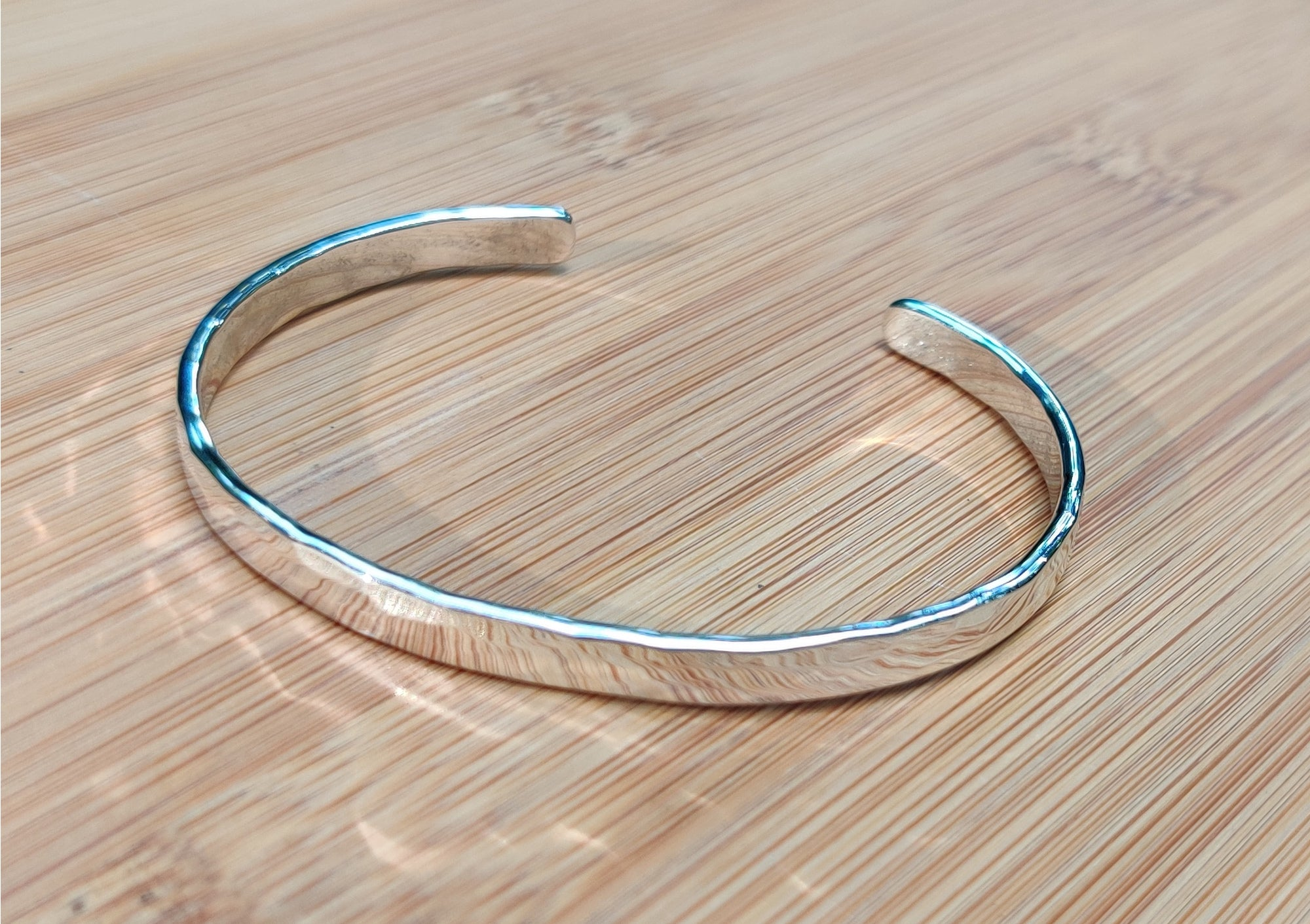 Sterling Silver Cuff Style Hammered Bracelet