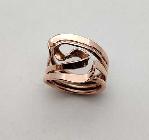 Twin Peaks Ring in Solid 14k Gold