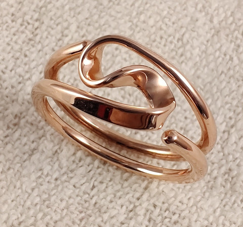Pure Copper and Sterling Silver Celtic Love knot Ring.