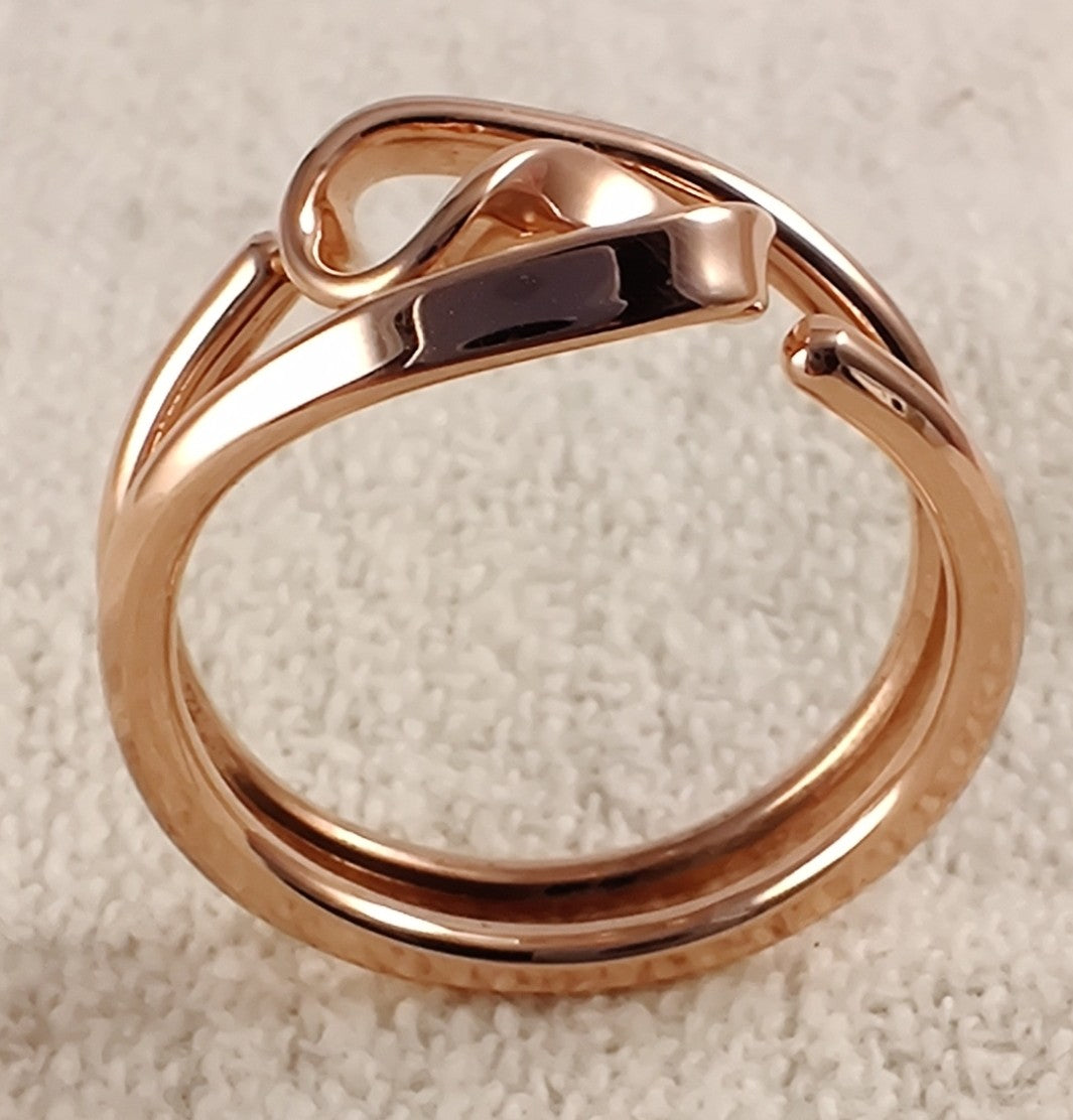 Two Turn Vortex Energy Ring™ in 12 gauge Pure Copper Tesla Inspired Jewelry