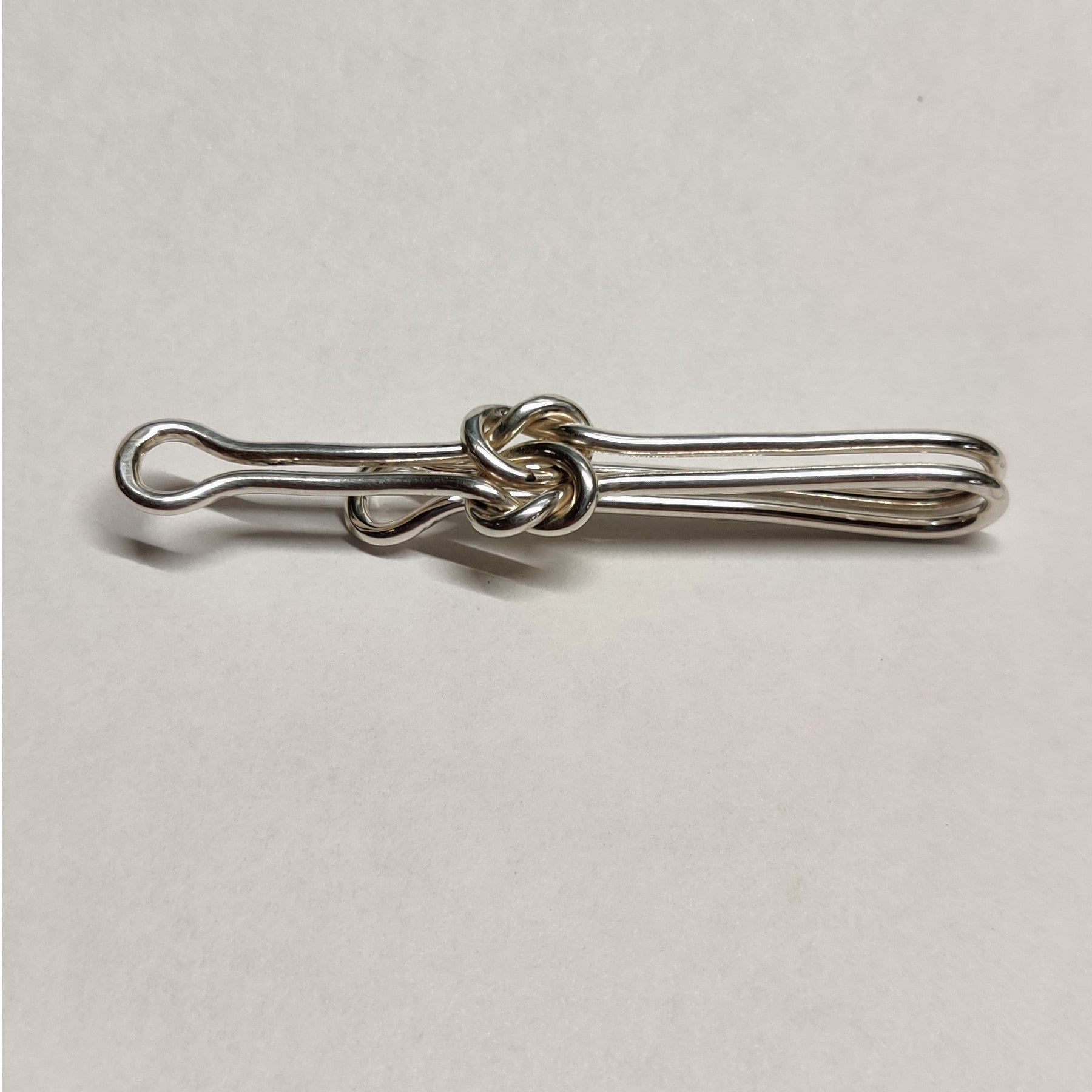 Celtic Knot Tie Clip in Sterling Silver