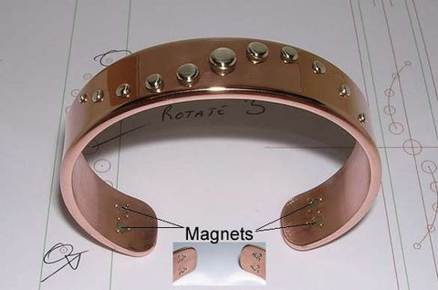 Copper Bracelet & Sterling Silver Rivets,
