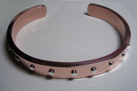 Copper Mobius Bracelet With Sterling Silver Rivets