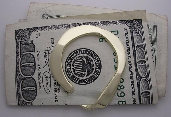Money Clip in Brass