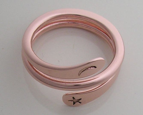 2 Turn Moon Star Energy Ring™ in Pure Copper