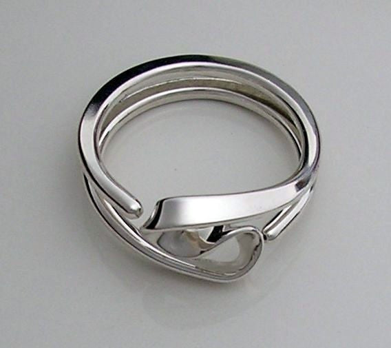 Energy Ring™  Two Turn Vortex Energy Ring ™  in 12 gauge Sterling Silver