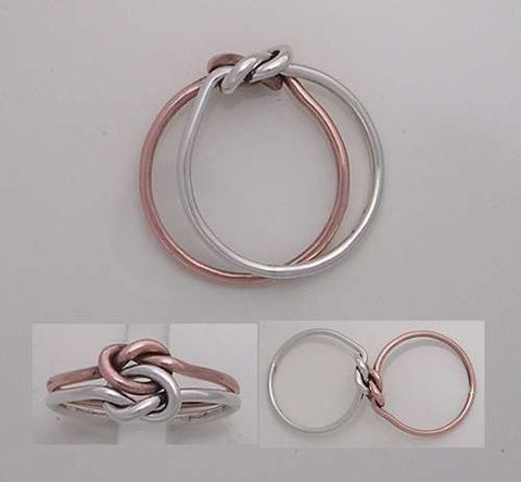 Overlay Bracelet in Pure Copper and Sterling Silver