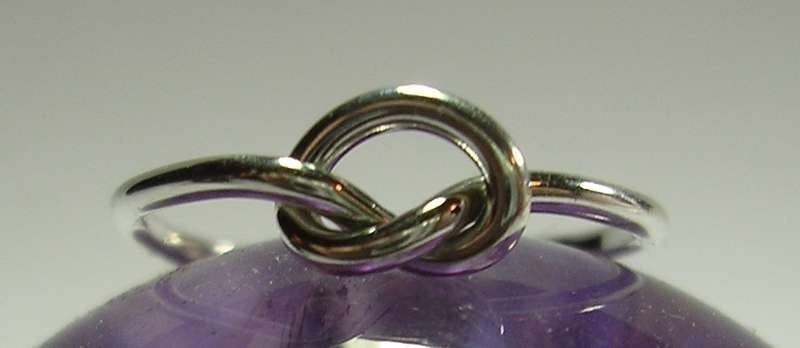 Single Knot Ring in Sterling Silver 12 Gauge