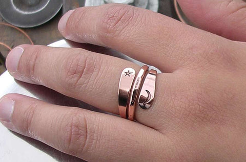 Three Turn Vortex Energy Ring™ in 14k Yellow Gold or 14k Rose Gold