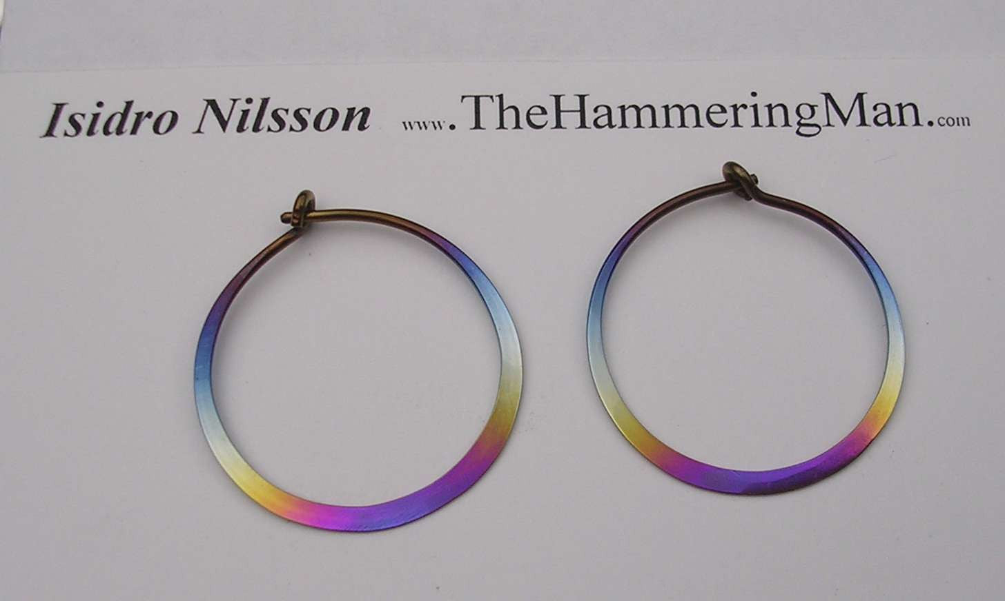 Niobium Hoop Earrings - Rainbow Colors In Various Sizes
