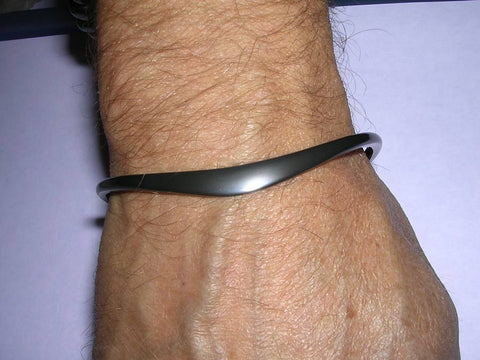 Pure Blackened Niobium Bracelet for Men and Women