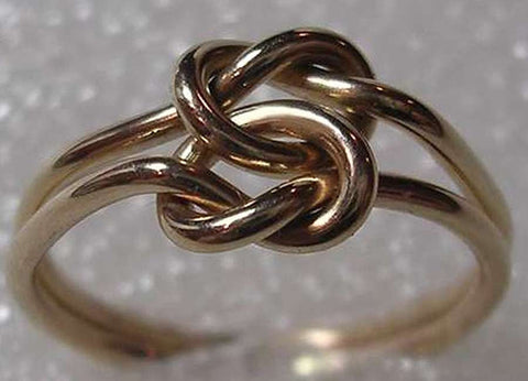 Triple Love Knot Ring in Sterling Silver & Pure Copper