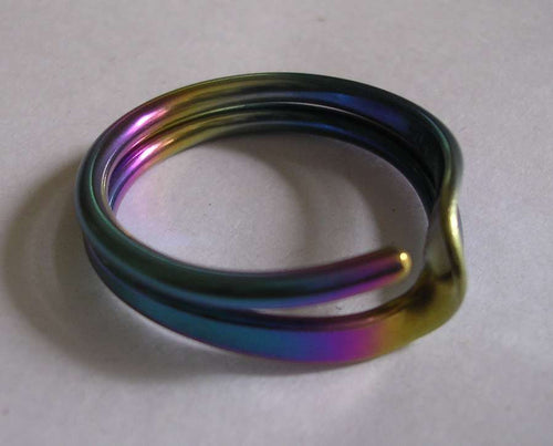 Colored Niobium 2 Turn Wave Energy Ring