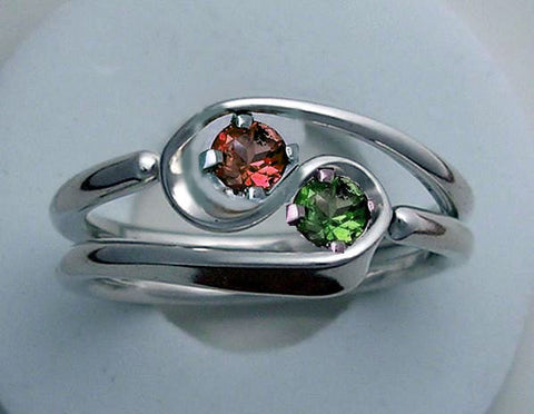 Niobium One Turn Accelerator Energy Ring™ With Rainbow Mock Pavé™ Finish