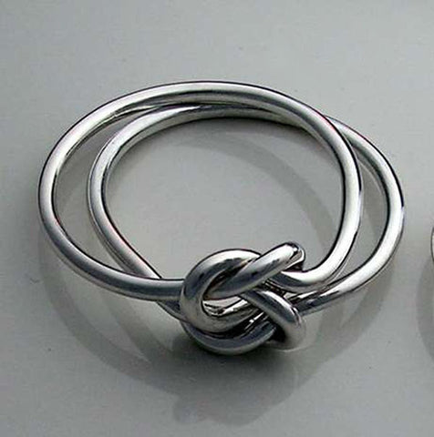Copper Ring With Sterling Silver Band