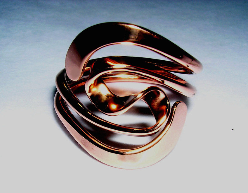 Winged Two Turn Vortex Energy Ring in Pure Copper