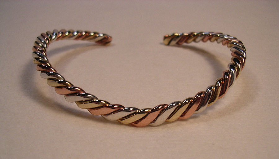 Twisted Tri-Metal Classic Bracelet