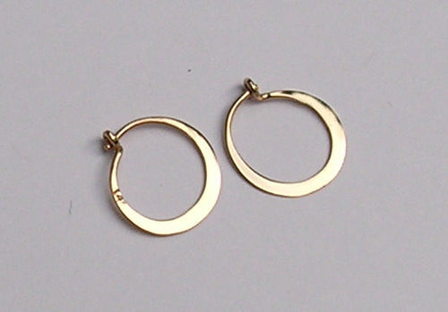 Tiny Sleepers -  Hoop Earrings in Your Color Choice of 14k Solid Gold