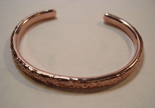 Heavily Textured ( Mock Pavé ™ ©) Pure Copper Cuff Bracelet