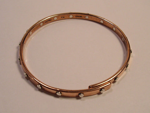Twisted Square Copper Bracelet