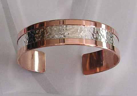 Pure Copper hammered Bracelet