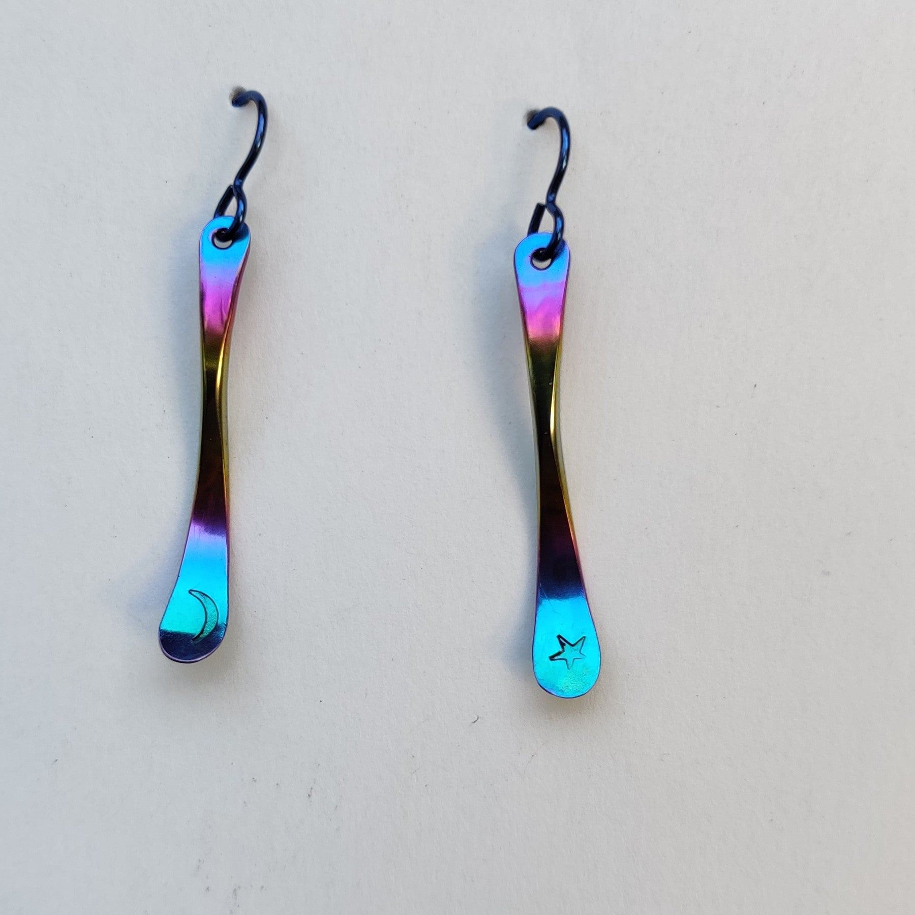 niobium moon star earrings