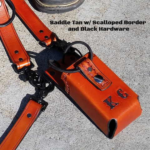 Hand-Made Radio Strap and Holster Combo