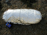 Fire shelter in use