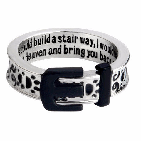 """Stairway to Heaven"" Pet Collar Ring"