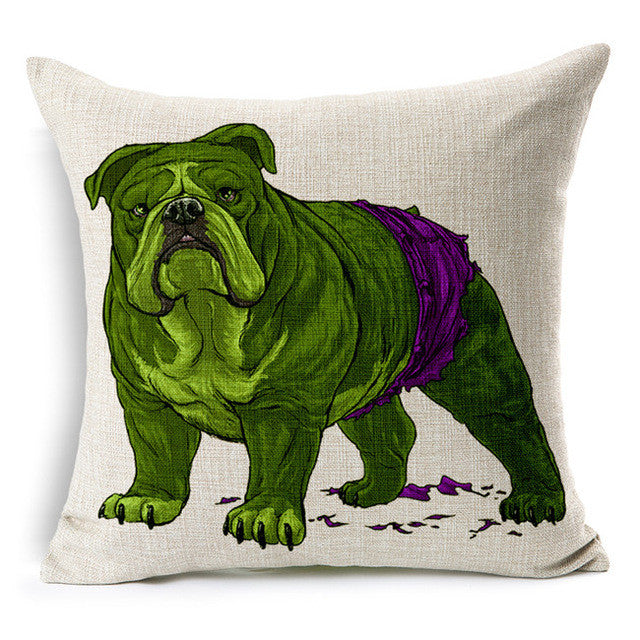 Hulk Bulldog Cushion Cover