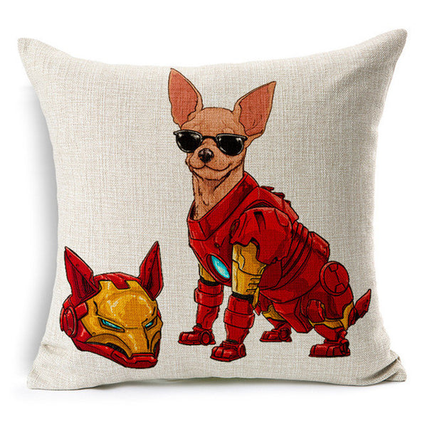 Ironman Chihuahua Cushion Cover