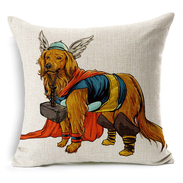 Thor Golden Retriever Cushion Cover