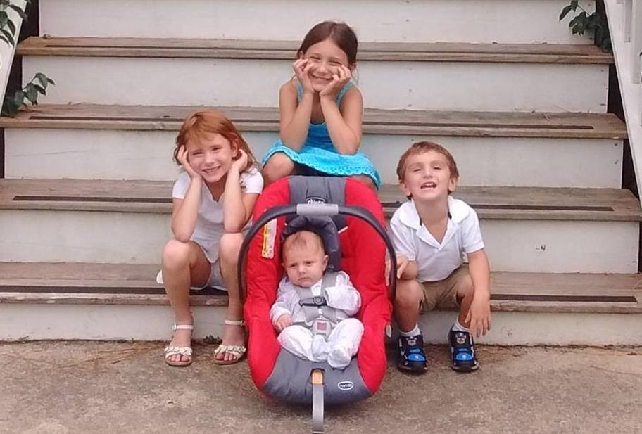 spotlight on mom: 5 questions -  genna and her 4 children