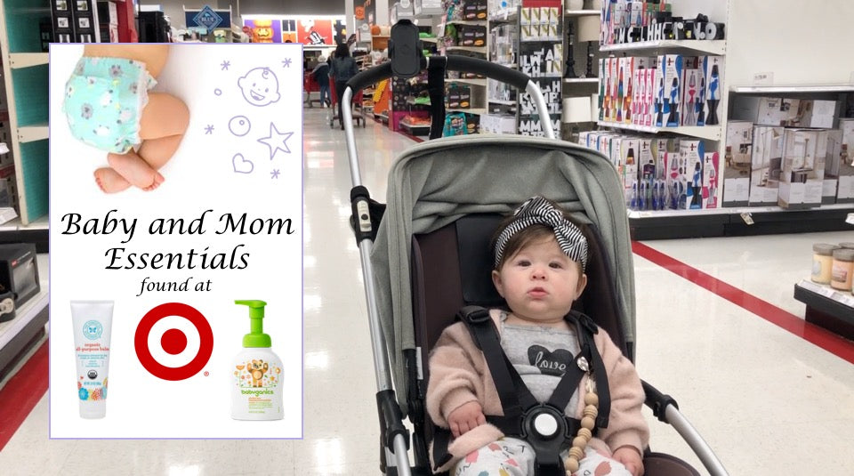 target shopping: baby and mom essentials