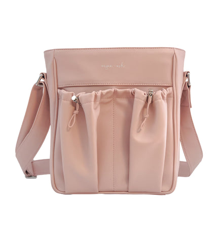 crossbody parent bag in blush for valentines