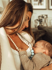 nursing necklace mom and baby