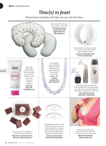teething necklace for mom Pregnancy newborn magazine feature