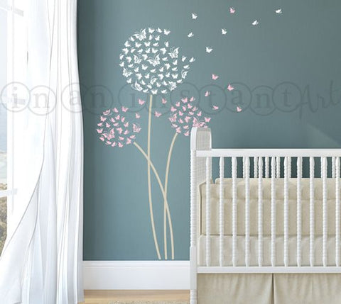 teething necklace - wall decal flowers