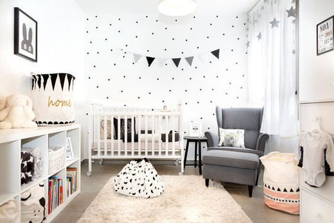 Monochrome nursery accent wall teething jewelry, teething necklace for mom