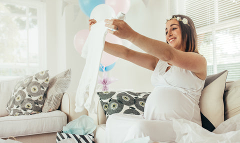 virtual baby shower - maternity clothes