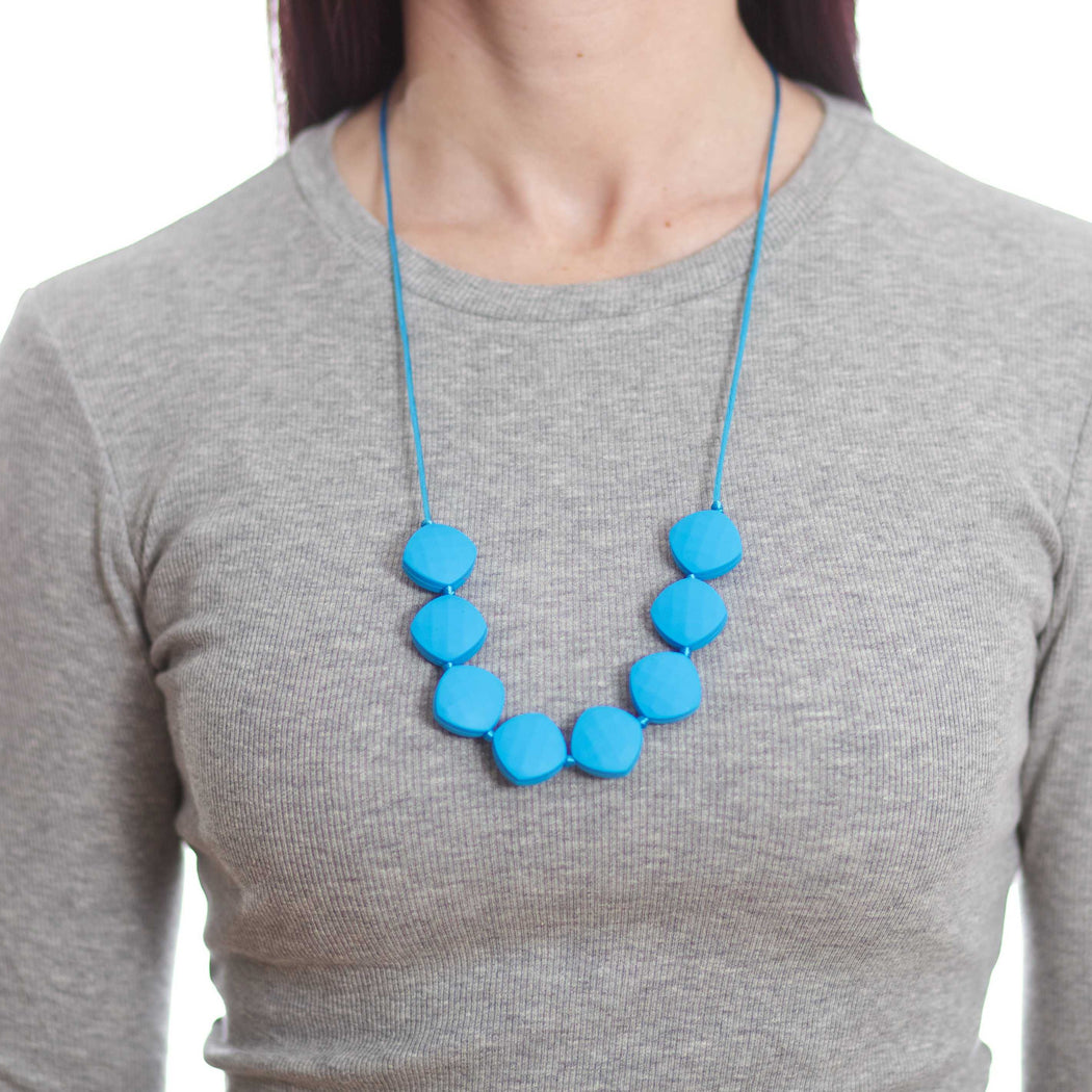 silicone teething necklace teething jewelry blueberry faceted