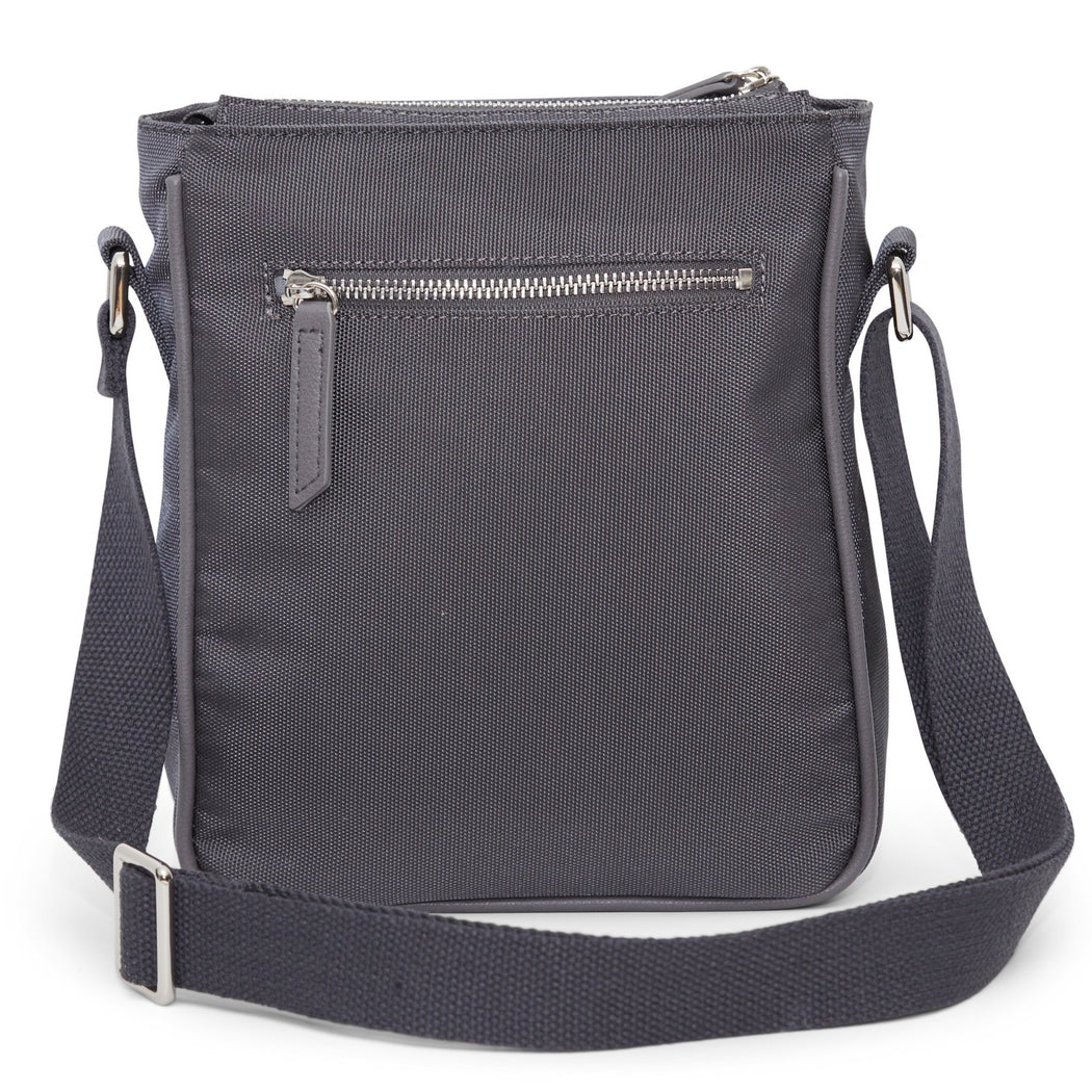 crossbody diaper bag slate - back