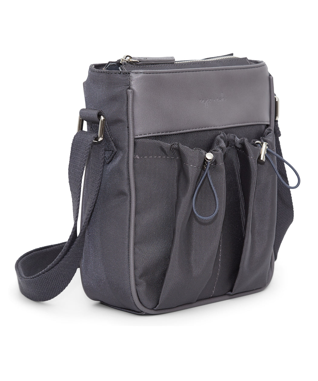 diaper bag crossbody in fog side