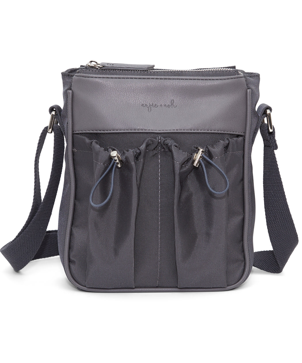 diaper bag crossbody in slate