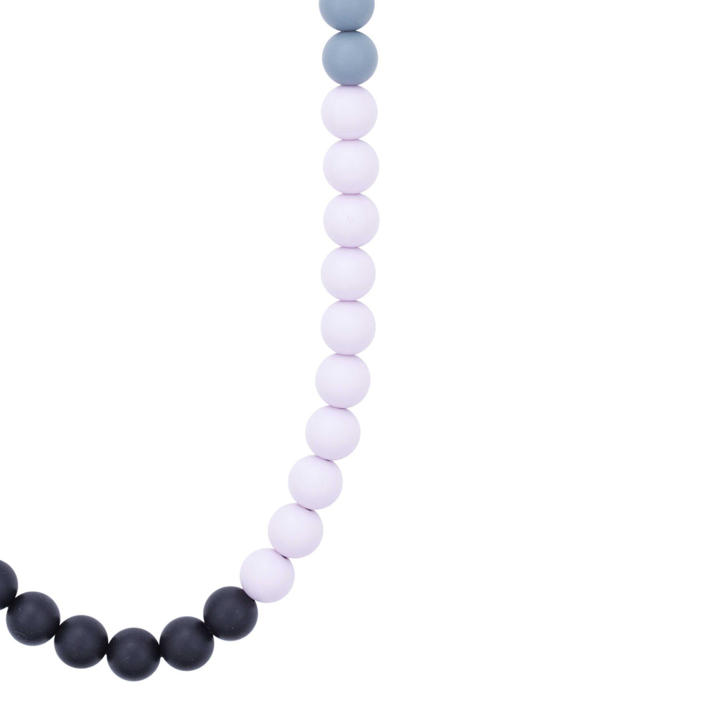teething jewelry for mom - lilac for baby teething necklace