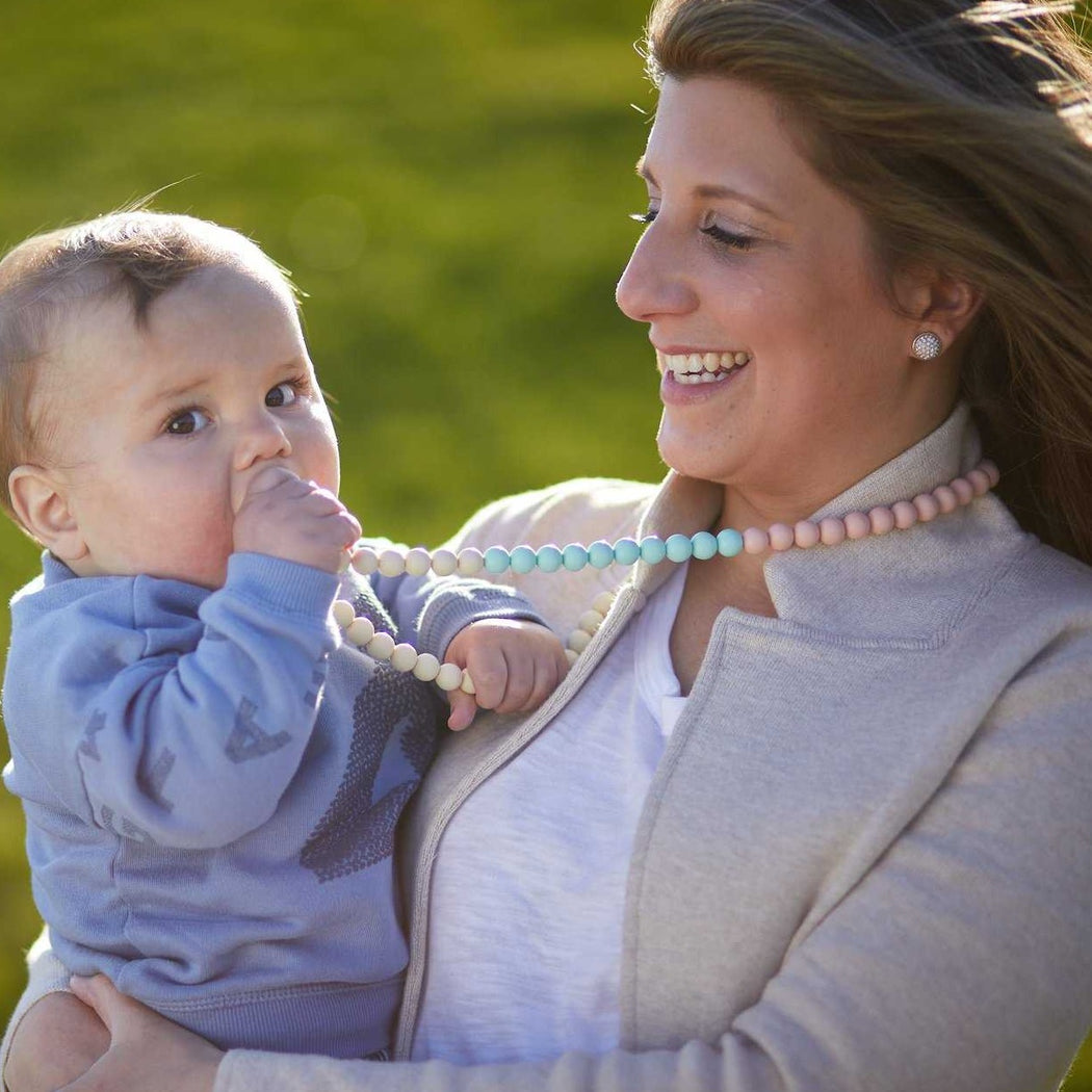teething necklace for mom Silicone necklace Anjie + Ash